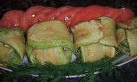 Кабачки в духовке с плавленым сыром и зеленью