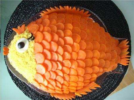 Салат золотая рыбка с фото