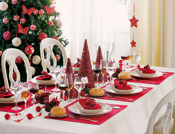 Дизайн новогоднего стола.фото