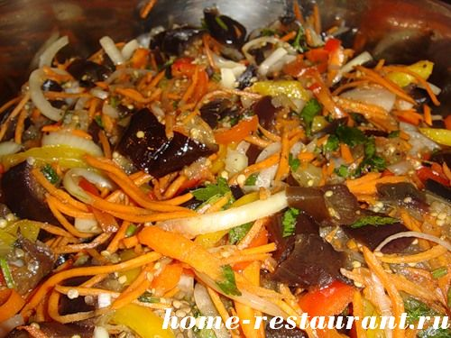 Рецепт баклажан по корейски на зиму фото