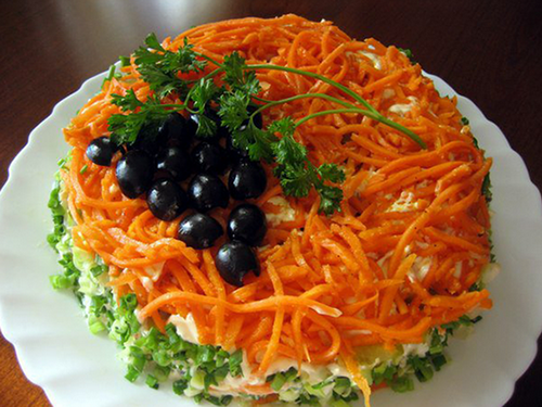 салаты с корейской морковью и курицей рецепты с фото