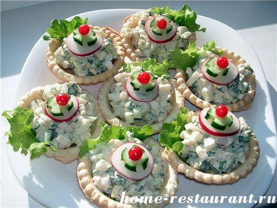 Салат в тарталетках Весенний
