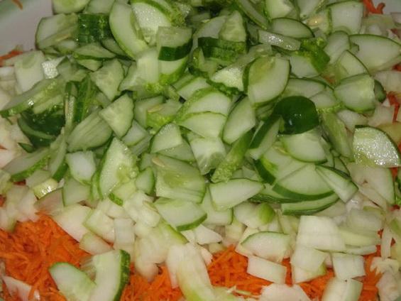 """Салат из капусты на зиму """"Огородник"""""""