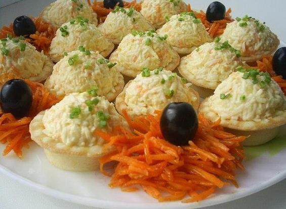 Сырные шарики в тарталетках
