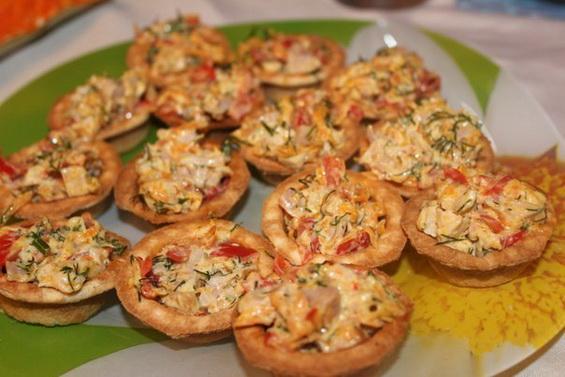 Тарталетки закуска рецепт пошагово