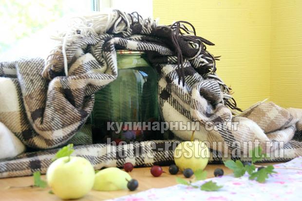 компот из крыжовника с яблоками фото 4