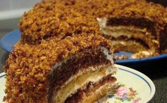 торт сметанник на сгущенке