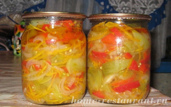 Салат из зеленых помидор на зиму «Цветик семицветик»
