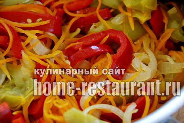 Салат из зеленых помидор на зиму «Цветик семицветик»_5