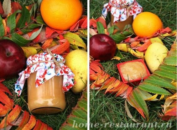 грушево-яблочное повидло с апельсинами фото 7