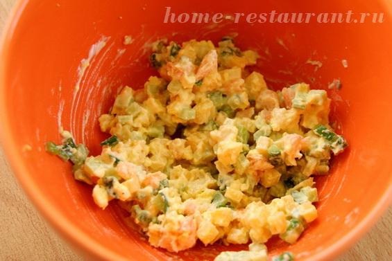 яйца, фаршированные креветками фото 11
