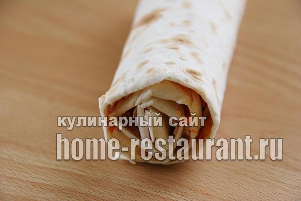 Лаваш с корейской морковью и ветчиной «5 минут»_10