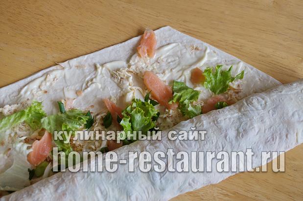 Лаваш с начинкой «Праздничная фантазия» с семгой и сыром_08
