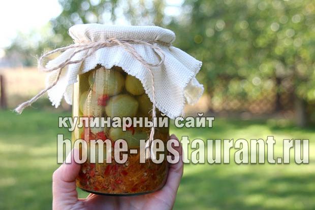 Маринованные зеленые помидоры с аджикой фото_03