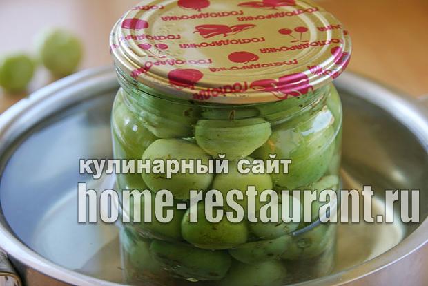 Маринованные зеленые помидоры с аджикой фото_09