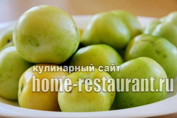 Зеленые помидоры фаршированные на зиму зеленью и чесноком фото_02