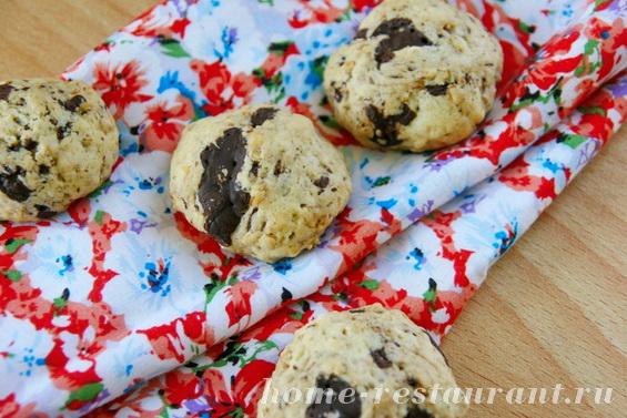 овсяное печенье с шоколадом фото 2