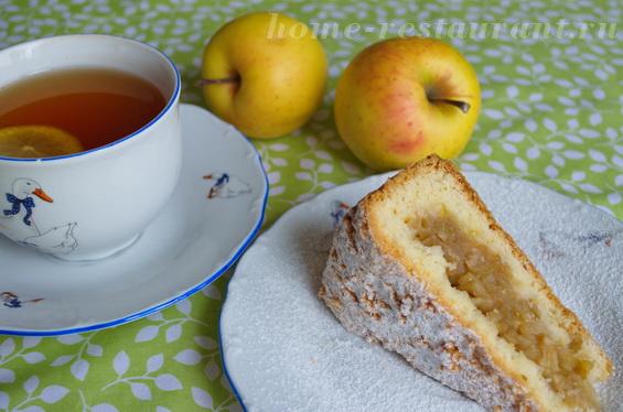 Песочный пирог с яблоками фото