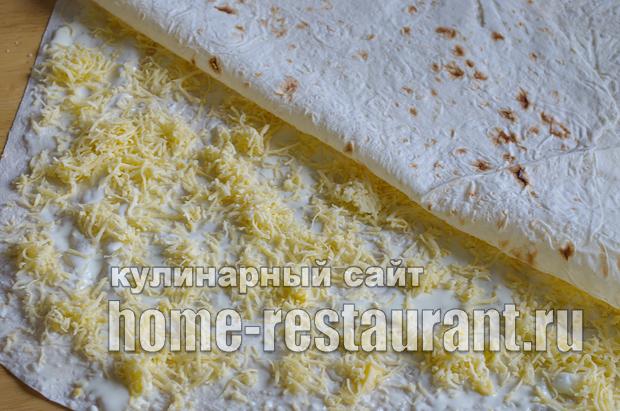 Лаваш с начинкой с грибами и сыром_06