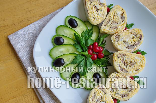 Лаваш с начинкой со шпротами и сыром_17