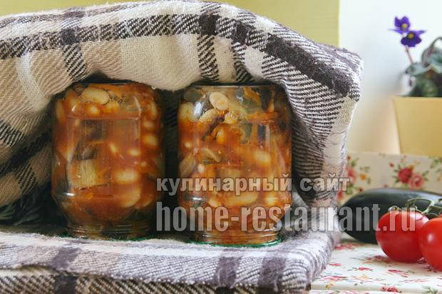 баклажаны с фасолью фото 10