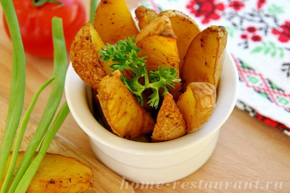 Картошка по-деревенски фото