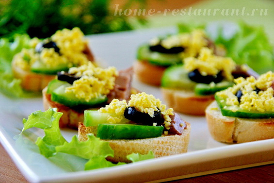Бутерброды с печенью трески фото 8