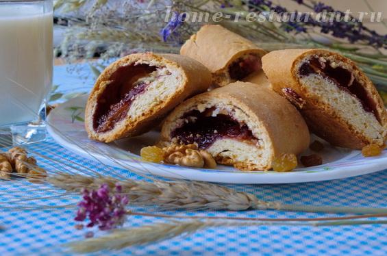 Песочное печенье с вареньем, орехами и изюмом «Флудинги»