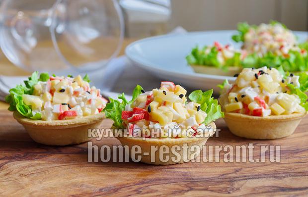 Начинка для тарталеток с ананасом и крабовыми палочками_6
