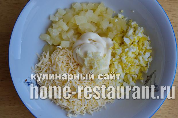 Начинка для тарталеток с ананасом и сыром_6