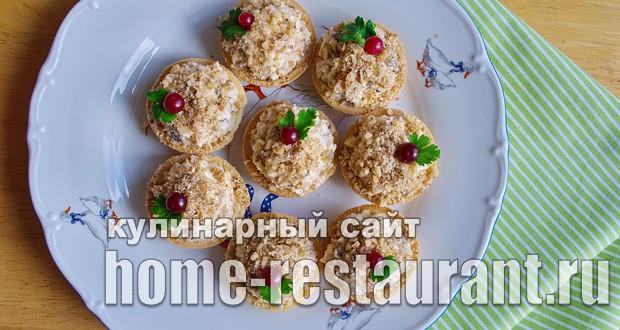 салат в тарталетках рецепты с копченой курицей