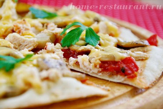 пицца с курицей и грибами фото 25