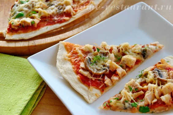 рецепт домашней пиццы в духовке без грибов