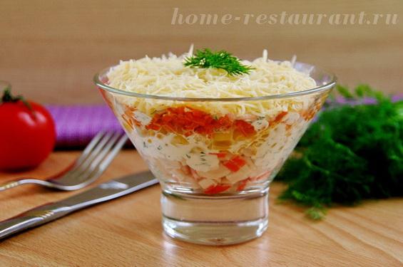 салат с крабовыми палочками и кукурузой фото 19