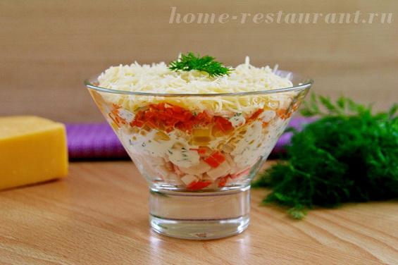 салат с крабовыми палочками и кукурузой фото 21