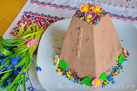 Королевская шоколадная пасха с вишней