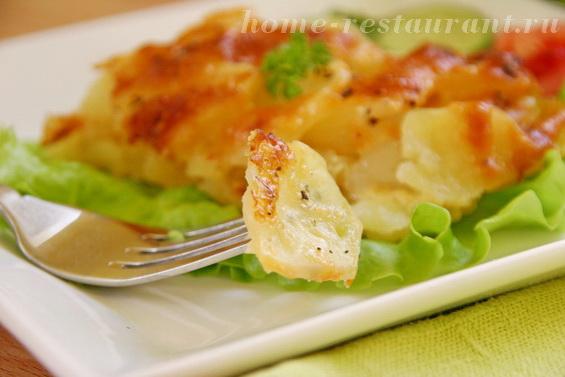Картофельный гратен с луком в духовке фото 12