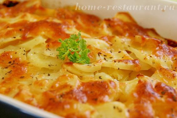 Картофельный гратен с луком в духовке фото 9