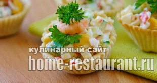 Салат в тарталетках с крабовыми палочками и креветками_04