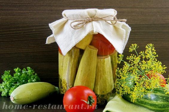 кабачки с помидорами фото 10