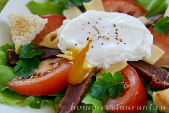 салат с яйцом пашот фото 11