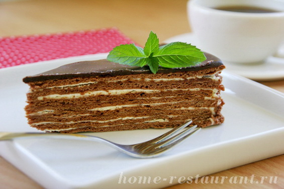 Торт спартак без меда