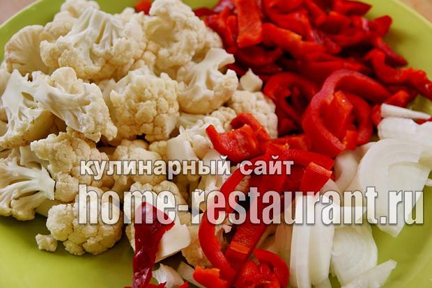 Цветная капуста с перцем фото 1