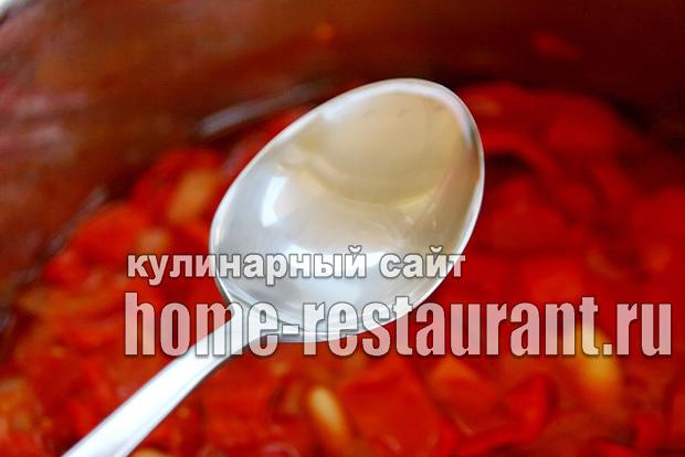Вкусный салат с фасолью на зиму из помидоров_7