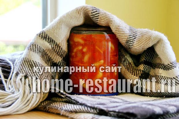 Вкусный салат с фасолью на зиму из помидоров_9