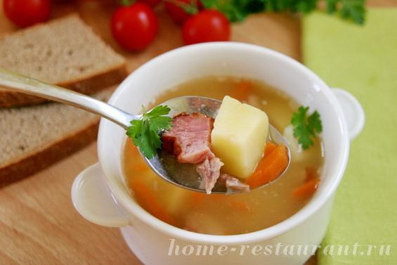 гороховый суп с копченостями фото 12