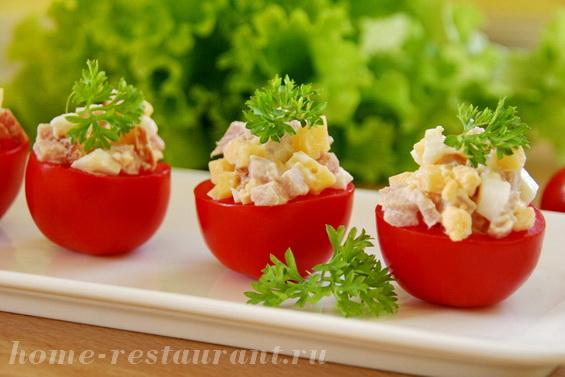 помидоры с ветчиной и сыром фото 9