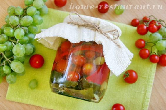 помидоры с виноградом и перцем фото 11