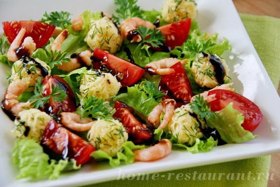 салат с креветками и сырными шариками фото 10