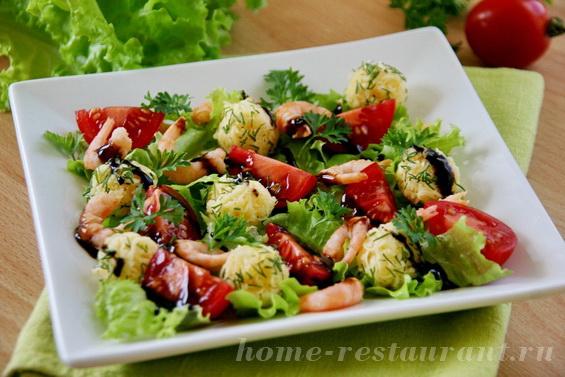 салат с креветками и сырными шариками фото 9